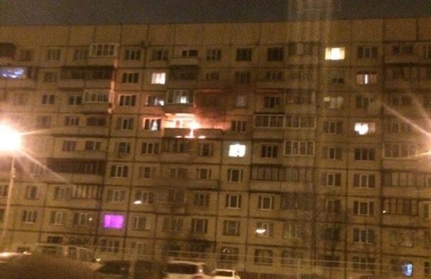 Пожар ликвидировали во Фрунзенском районе