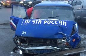«Почта России» попала в аварию на Бухарестской улице
