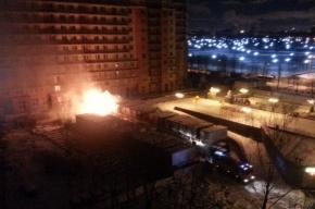 Бытовки горели ночью на стройке ЖК на улице Стасовой