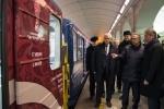 Фоторепортаж: «Посвященный Кубку конфедераций поезд запустили в метро Петербурга, фото: Игорь Руссак »