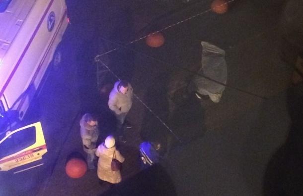 Женщина выпала с верхних этажей дома на Пулковском шоссе