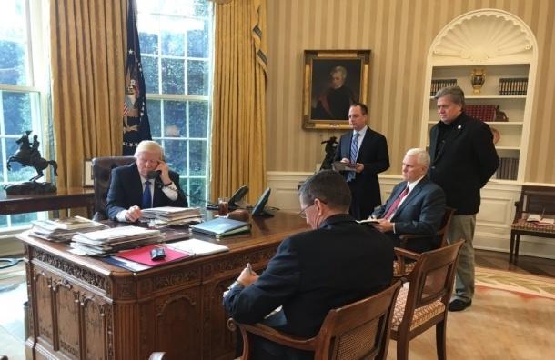 Трамп и Путин начали телефонный разговор