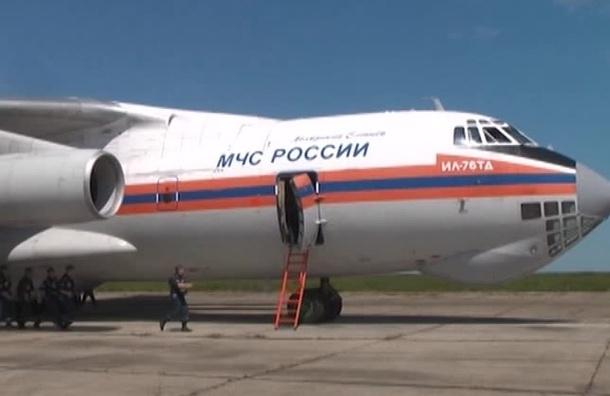 Специальный самолет МЧС доставил в Петербург тяжелобольного ребенка