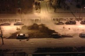Трубу с горячей водой прорвало на улице Васенко