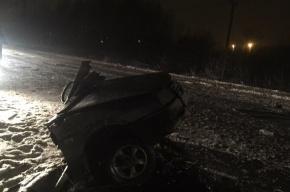 «Девятку» разорвало пополам под Петербургом, два человека погибли