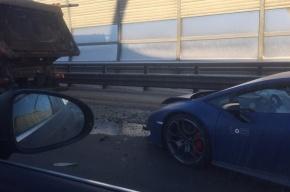 Lamborghini попал в ДТП на ЗСД