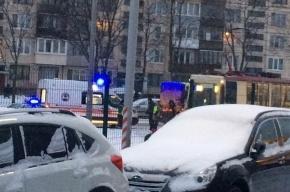 Трамвай столкнулся с маршруткой на проспекте Науки