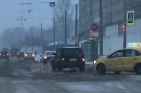 Два фонтана забили на улице Седова