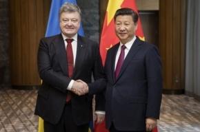 Порошенко просит Китай помочь вернуть Украине Крым