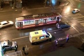 Пассажира трамвая сбили на улице Ленсовета