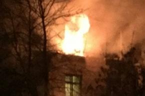 Пожарные спасли 5 человек из горящей квартиры на Кондратьевском