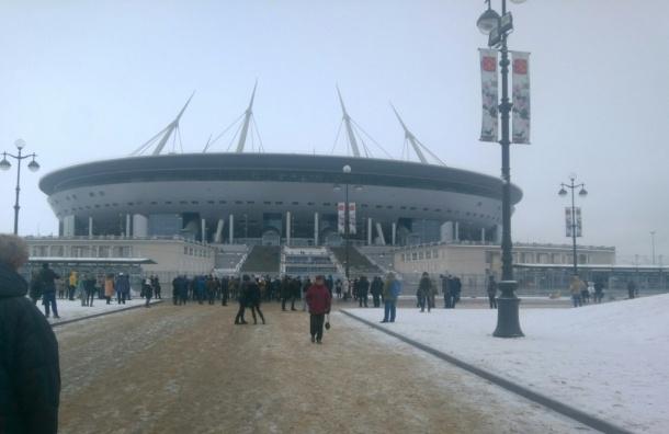 Поклон строителям стадиона