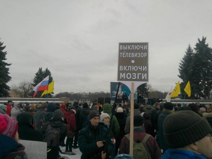 Петербуржцы начали шествие впамять оНемцове