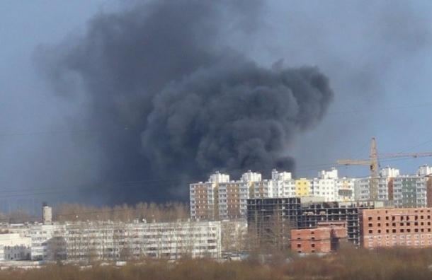 Сильный пожар потушили в Ленсоветовском