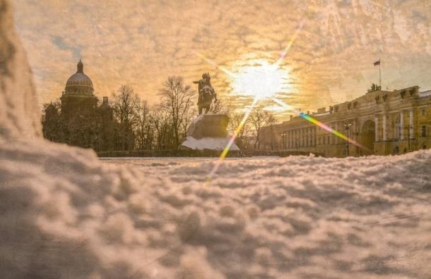 Морозы вернулись в Петербург