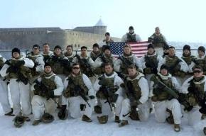 Американские военные подняли флаг над Ивангородом