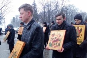 Семинаристы мерзли под снегом на крестном ходе
