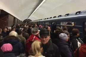 Коллапс на синей ветке привел к давке на станции «Невский проспект»