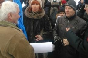 «Демократический Петербург» пришел на митинг памяти Немцова с экстремистскими флагами