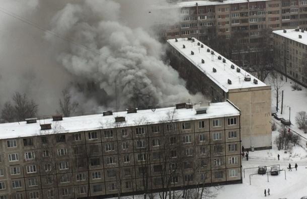 Квартира горит на Народной улице, есть пострадавшие