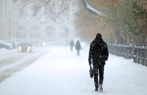 Петербург в выходные ждет мокрый снег и сильный ветер