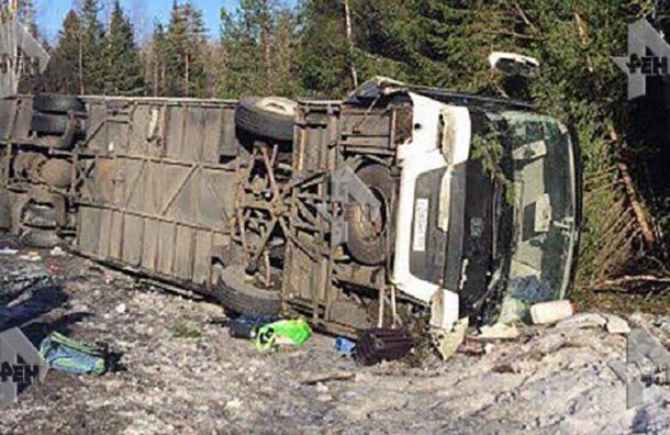 Вразбившемся уграницы сФинляндией автобусе находились работники  петербургского «Водоканала»