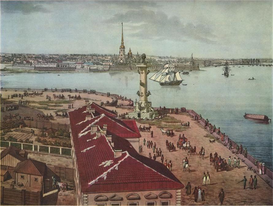 _Вид на Стрелку ВО, Тозелли, 1820
