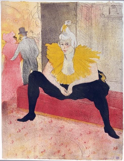 _Сидящая клоунесса Ша-Ю-Као из альбома цветных литографий «Они»