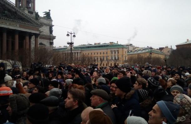 Марш в защиту Петербурга пройдет на Марсовом поле