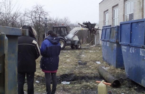Администрация Колпинского района сносит «Блокадный сад»