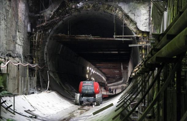 «Метрострой» завершит проходку тоннеля кстанции «Новокрестовская» летом