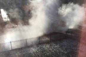 Труба с горячей водой рванула на Димитрова