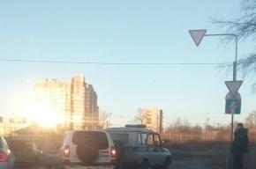 Полицейский УАЗ подбили на Белградской улице