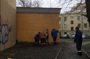 Петербургские коммунальщики решили избавиться от граффити с Ильёй Сегаловичем