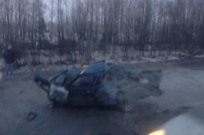 Киевское шоссе встало в пробке из массовых ДТП