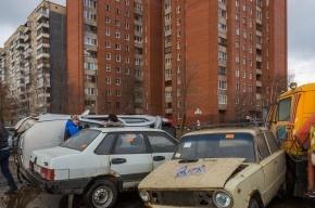 Tagaz на Передовиков на боку влетел на парковку и выбил страйк
