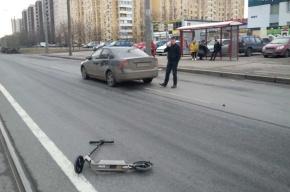 Пешехода на самокате сбили на Шлиссельбургском проспекте