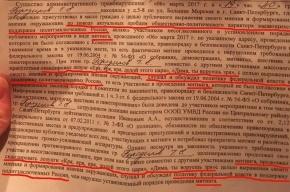 Стишки про «царя Диму» попали в протоколы о задержании участников схода против Медведева в Петербурге