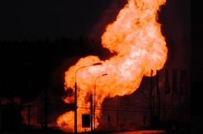 Газопровод взорвался под Гатчиной