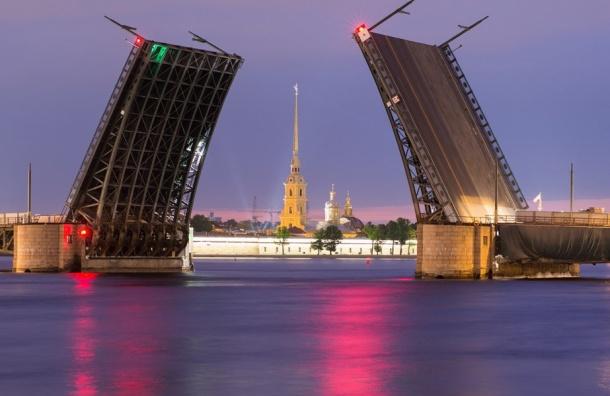 Дворцовый и Троицкий мосты будут разводить раньше ради туристов