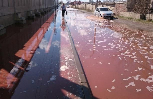 Реки сока затопили улицы города в Липецкой области