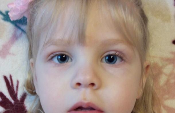 Двухлетней Лизе Смирновой требуется операция