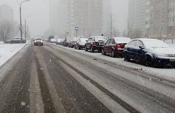 Петербуржцев ждет завтра мокрый снег с дождем и туман