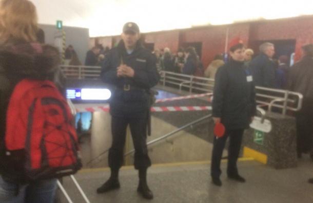 Станция «Маяковская» закрыта на вход и выход