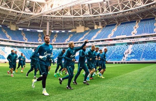 Футболисты «Зенита» провели первую тренировку на новом стадионе