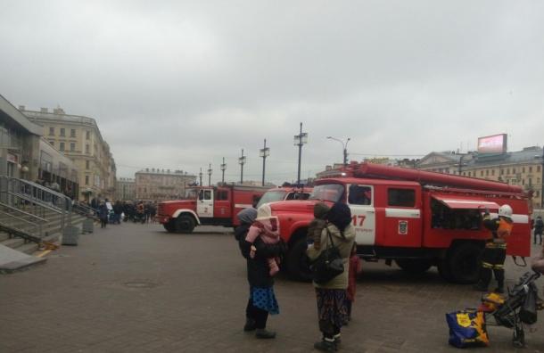 Очевидцы: Вагон метро загорелся в районе Технологического института