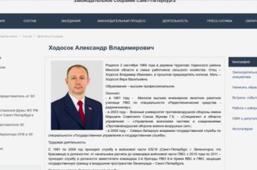 Депутат Ходосок защищал в2010 году границу Ленинграда