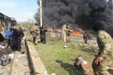 Десятки мирных жителей погибли из-за взрыва около автобуса в Сирии
