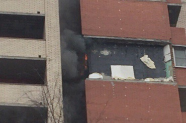 Возгорание было после взрыва в доме на Солидарности