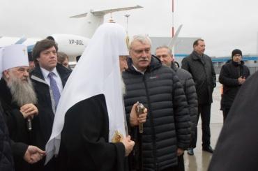 Патриарх Кирилл прилетел вПетербург набизнес-джете